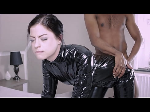 leather catsuit anal